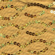 Gold Helix Sequin