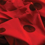 Victorian Red Circle Taffeta