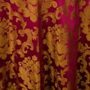 Burgundy & Gold Mozart Damask