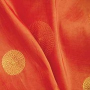 Orange Circle Taffeta