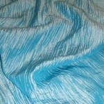 Turquoise Crushed Taffeta