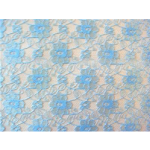 Light Blue French Floral Lace