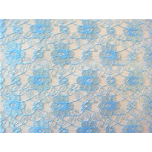 Light Blue French Fl Lace