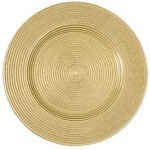 Antique Gold Luxe Glass Charger Plate