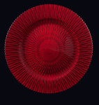 Apple Red Marbella Glass Charger Plate