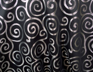 Black & Silver Sergei Metallic Scroll