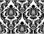 Black & White Wellington Damask