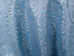 Blue & Silver Sergei Metallic Scroll