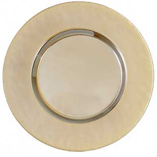 Gold Iridescent Charger Plate