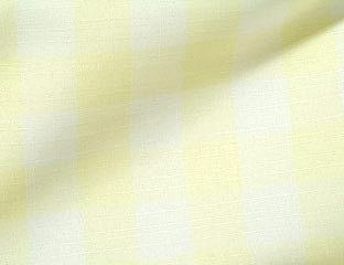 Light Yellow & White Gingham Check