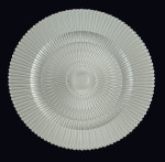 Pearl Marbella Glass Charger Plate