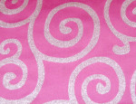 Pink & Silver Sergei Metallic Scroll