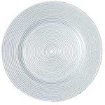 Platinum Luxe Glass Charger Plate
