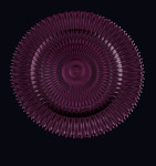 Plum Marbella Glass Charger Plate
