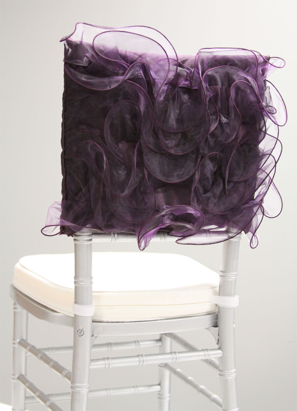 Pucker Aubergine Chair Sleeve