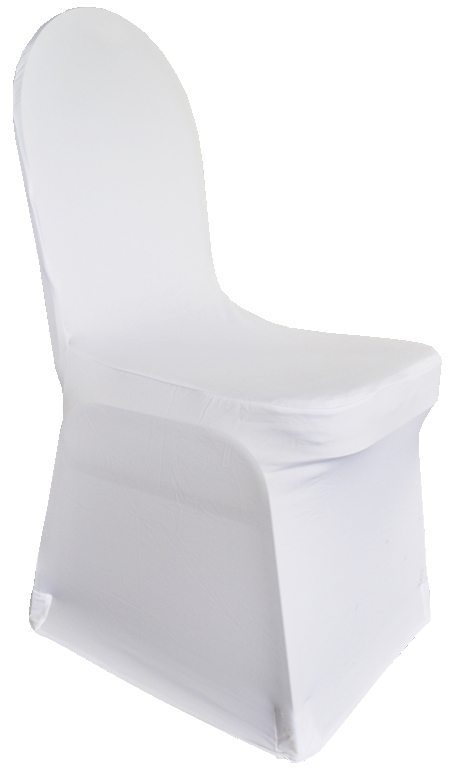 Spandex White Chair Cover | Tesoro Event Rentals